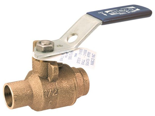 "1-1/4"" S-585-70-66 Soldered Ball Valve, DZR Bronze"