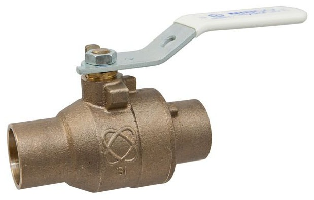 "1"" S-585-66-LF Soldered Ball Valve, DZR Silicon Bronze"