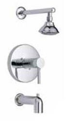 Shower Trim with Single Lever Handle - Brushed Nickel, Wall Mount, 2 GPM