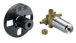 Threaded/PEX Tub and Shower Pressure Balancing Rough-In Valve, Chrome Plated