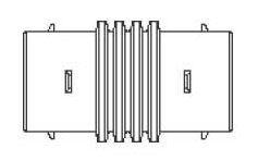 "4"" HDPE Single Wall Internal Coupling"