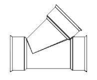 HDPE Dual Wall Watertight Wye