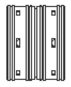 "6"" HDPE Single Wall Straight Coupling - N-12, External Snap"