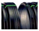 "42"" x 20' HDPE Drainage Pipe - N-12, Solid, Dual Wall"