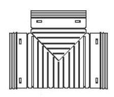 HDPE Single Wall Snap Straight Tee