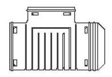 "6"" HDPE Single Wall Straight Tee - Blind"