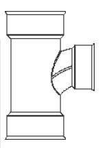 HDPE Dual Wall Sweeping Soiltight Reducing Tee