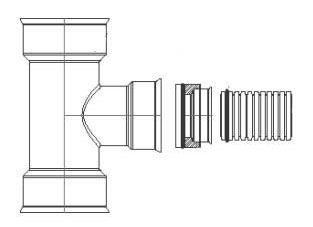 HDPE Dual Wall Soiltight Reducing Tee