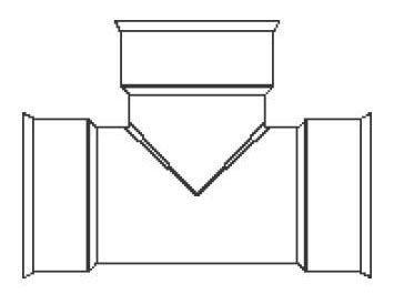 HDPE Dual Wall Soiltight Straight Tee