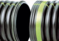 """15"""" x 20' HDPE Drainage Pipe - N-12, Solid, Dual Wall"""
