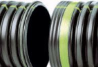 """18"""" x 20' HDPE Drainage Pipe - N-12, Solid, Dual Wall"""