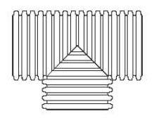HDPE Dual Wall Straight Tee