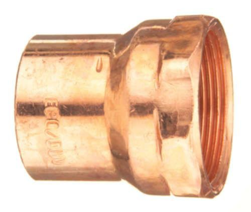 """1-1/4"""" Copper Female Straight Adapter - C x FPT"""