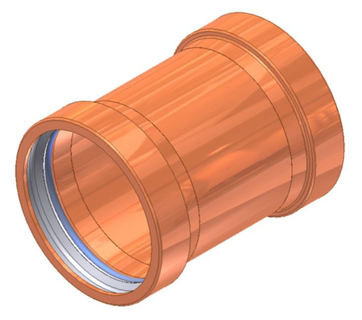 "4"" Copper No Stop Straight Coupling"