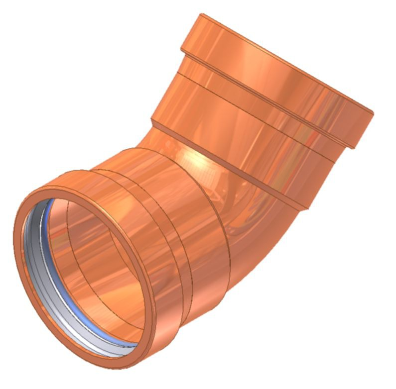 "2-1/2"" Copper 45D Elbow"