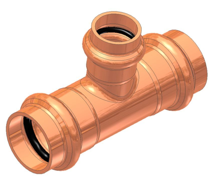 "2"" X 2"" X 1"" Copper Reducing Tee"
