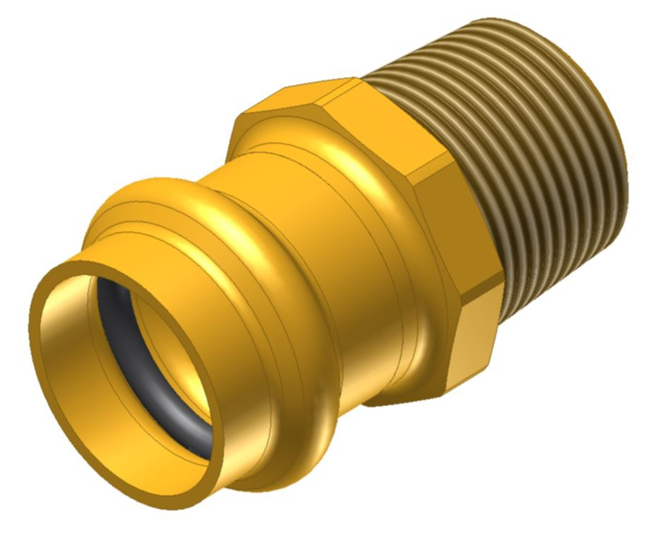 "1-1/2 X 1-1/2"" Brass Male Straight Adapter"