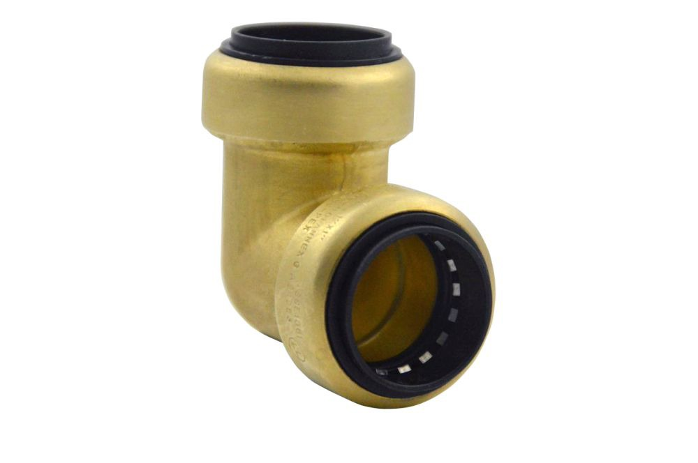 "3/4"" Brass 90D Straight Elbow - TECTITE, Push-Fit x C"