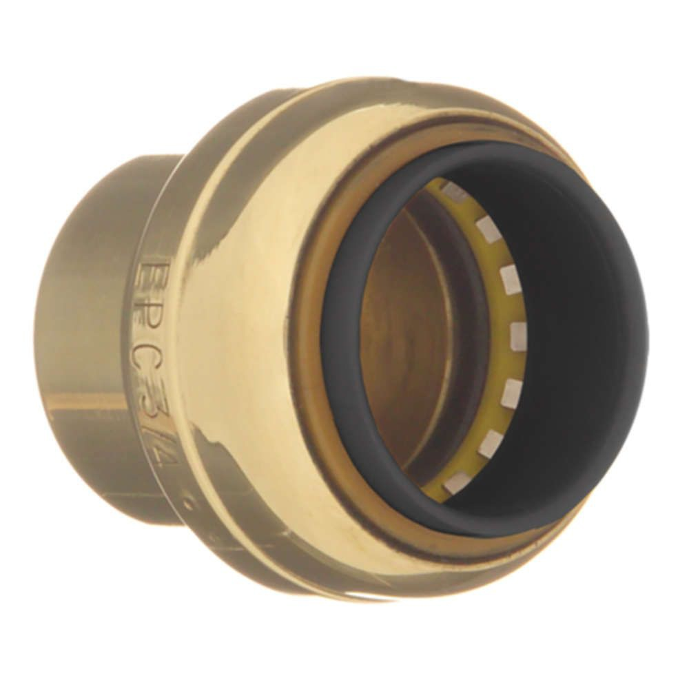 "3/4"" Brass Round Head Cap - TECTITE, Push-Fit"