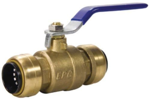 "3/4"" Brass Ball Valve - TECTITE, Lever Handle, C"