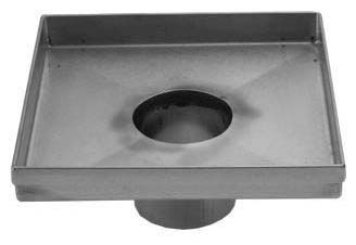 Square Shower Channel Drain, 304 Stainless Steel