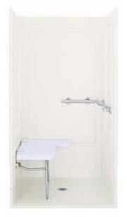 Modular Corner Shower End Wall Set, Solid Vikrell