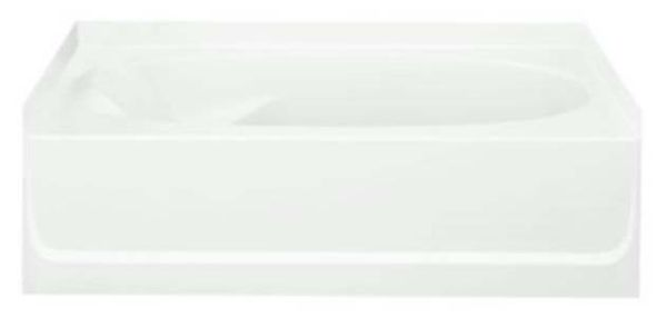 "60"" x 36"" Alcove Bathtub - Ensemble, White"
