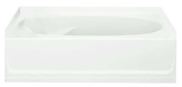 "60"" x 36"" Alcove Bathtub - Ensemble, White"