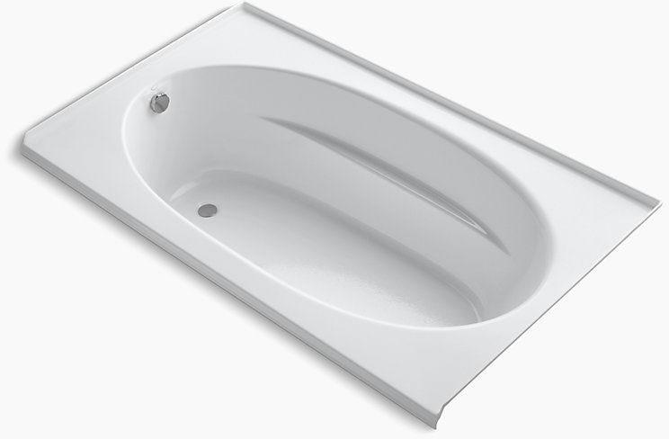 Windward 72X42 Drop-In Bath 3-Flg Left Hand White