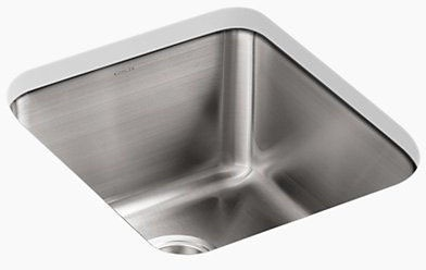 Undertone 14X16X9 Undercounter Stainless Steel Sink With Clip Stainless Steel