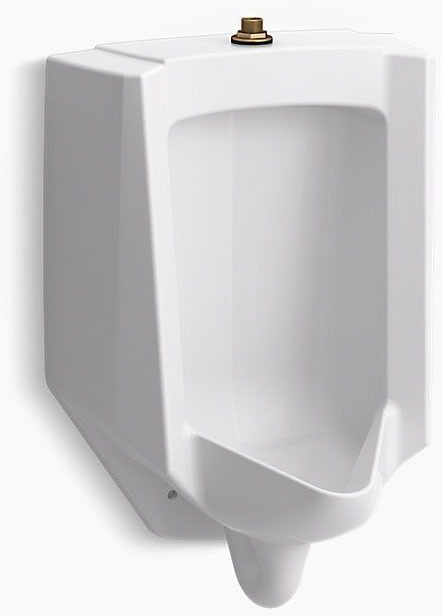 Bardon Washout Flush Action Urinal, Vitreous China 0.125 to 1 GPF White