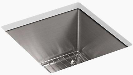 """15 X 15"""" Strive Undermount Kitchen Sink, Stainless Steel 15"""" X 15"""" X 9-5/16"""""""