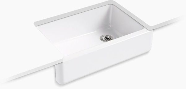 "Whitehaven, Self-Trimming Undermount Kitchen Sink, Enameled Cast Iron 32-11/16"" X 21-9/16"" X 9-5/8"""