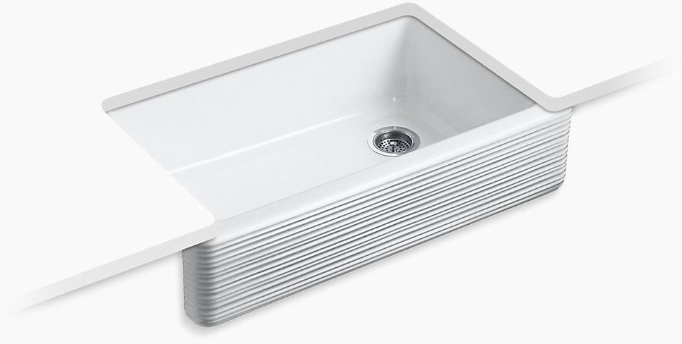 "Whitehaven Hayridge Undercounter 36 X9"" Sink White"