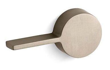 Solid Brass Arm Toilet Trip Lever - Cimarron, Vibrant Brushed Bronze Handle, Left Hand