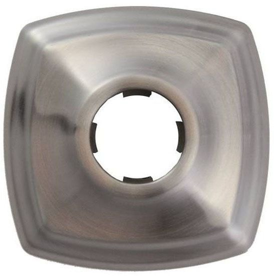 Square Shower Arm Flange, Brushed Nickel