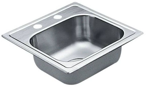 Drop-In / Undermount Single Bowl Bar Sink - Excalibur, 2-Hole, Stainless Steel