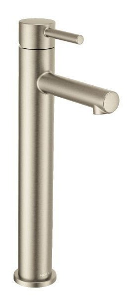 Bathroom Sink Faucet with High-Arc Spout & Single Lever Handle - Align, Brushed Nickel, Deck Mount, 1.2 GPM