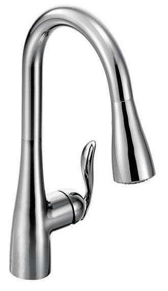 Kitchen Faucet with High-Arc Spout & Single Lever Handle - Arbor, Classic Stainless Steel, Deck Mount, 1.5 GPM