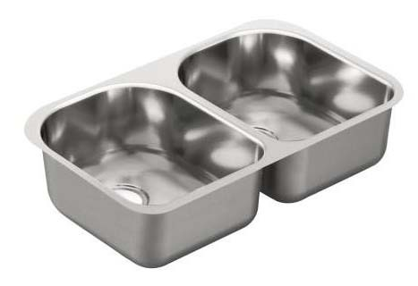 "2000 Series 29.25""X18.5"" Stainless Steel 20 Gauge Double Bowl Sink"