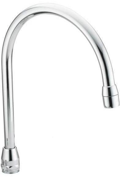 Deck Mount Rigid Gooseneck Faucet Spout Assembly - M-DURA, Chrome Plated Brass