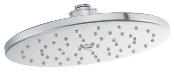 "Waterhill Chrome One-Function 10"" Diameter Spray Head Eco-Performance Rainshower Showerhead"