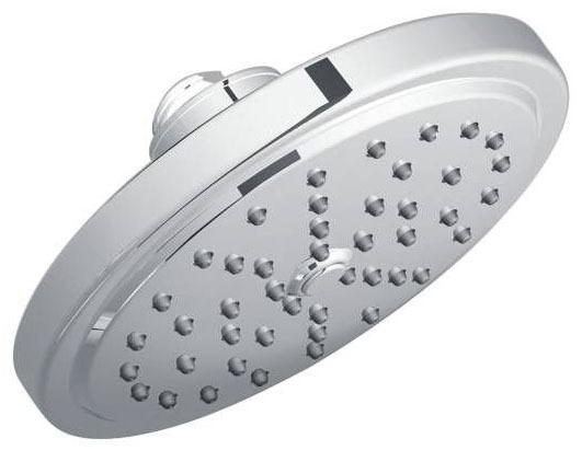 "Fina Chrome One-Function 7"" Diameter Spray Head Eco-Performance Rainshower Showerhead"