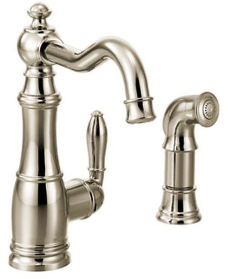 Weymouth Polished Nickel One-Handle Kitchen Faucet