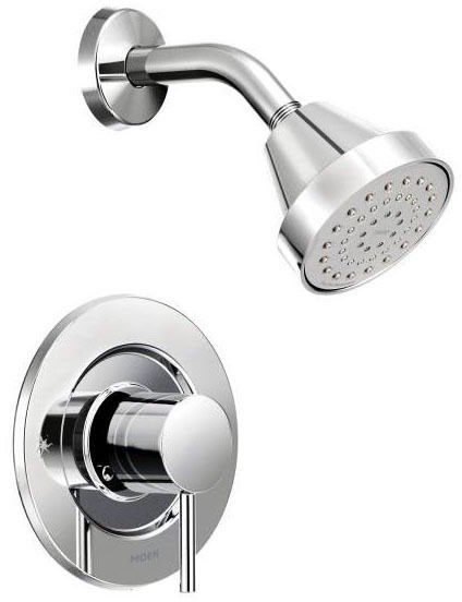 Shower Trim with Single Lever Handle - Align / Posi-Temp, Chrome Plated, Wall Mount, 2.5 GPM
