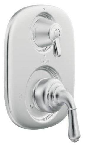 Lever/Knob Tub and Shower Valve Trim, Chrome Plated