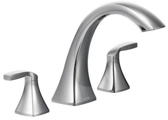 Voss Chrome Two-Handle Roman Tub Faucet