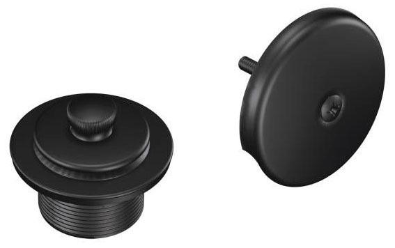 Round Push-N-Lock Tub/Shower Drain Cover, Wrought Iron