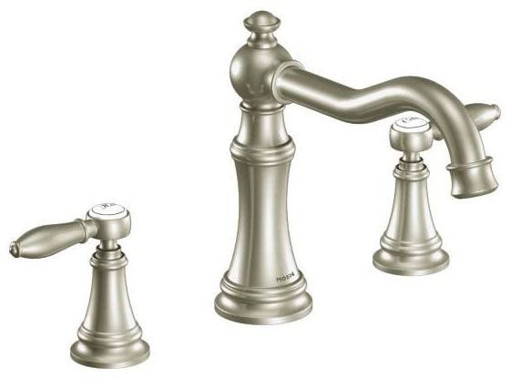 Weymouth Brushed Nickel Two-Handle Roman Tub Faucet