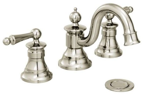 Waterhill Polished Nickel Two-Handle Bathroom Faucet